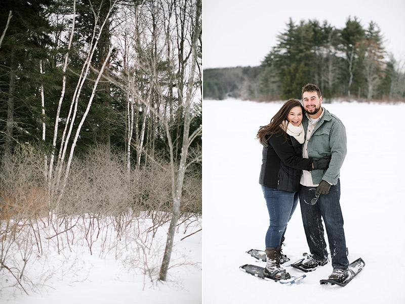 Lake-Monomonac-Snowshoe-Winter-Engagement-Shoot-Lara-Kimmerer-005